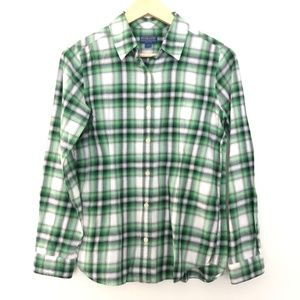 Pendleton Button Front Plaid Flannel Shirt Small